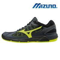 【MIZUNO 美津濃】WAVE SUPERSONIC 男 排球鞋 深丈青X螢光綠 V1GA184047