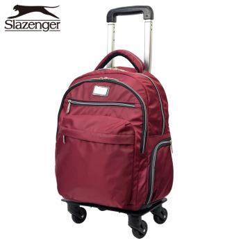 Slazenger 史萊辛格 18吋可拆式拉桿後背包(紅)