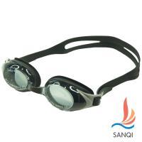 SANQI三奇 夏日必備抗UV防霧休閒度數泳鏡(黑色) SQ2913