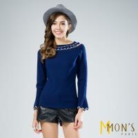MONS親膚質感甜美造型羊毛針織上衣