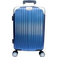 YC Eason 麗致20吋PC髮絲紋可加大行李箱-藍色