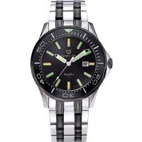 Olympia Star 奧林比亞之星-神盾系列極限氚氣石英腕錶-雙色x黑 98024TGSB