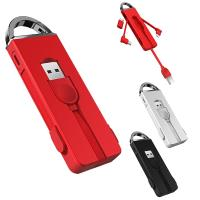 OATSBASF 時尚新設計!! Apple  Micro  Type C USB接頭 鑰匙扣三合一充電線