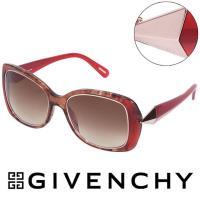 GIVENCHY 法國魅力紀梵希時尚幾何美學風格太陽眼鏡(紅) - GISGV829-0AH7