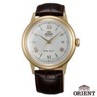 ORIENT東方錶  DATE II 羅馬時標圓滿時刻手動上鍊機械腕錶-白面金框x40.5mm  FAC00007W0