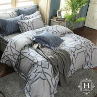 HOYA H Series愛諾風尚 雙人四件式300織長纖細棉被套床包組