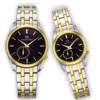 Olympia Star 奧林比亞之星-經典都會系列情人對錶(內斂黑)58072-07MSK+58072-07LSK