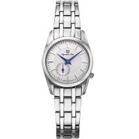 Olympia Star 奧林比亞之星-經典都會系列小秒針時尚計時腕錶(都會銀)58072-07LS