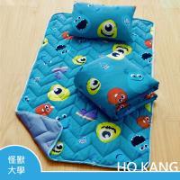 HO KANG 迪士尼正版授權 雪紡棉三件式睡墊組 - 怪獸大學