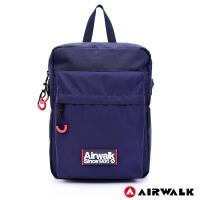 AIRWALK -簡約慢活休閒側背包-藍色