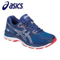 【asics 亞瑟士】GEL-NIMBUS 20 4E寬楦 男慢跑鞋 藍紅 T802N-400