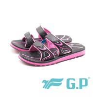 G.P防水止滑親子同樂舒適厚底拖鞋 童鞋 女鞋-黑桃(另有黑紫)