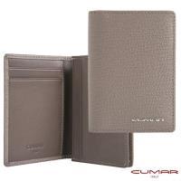 【CUMAR】義大利牛皮-高容量型-名片夾-灰岩系列