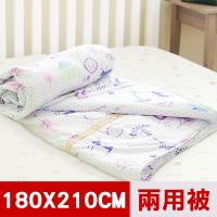 米夢家居-原創夢想家園系列-台灣製造100%精梳純棉兩用被套(白日夢)-雙人