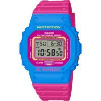 CASIO G-SHOCK 復刻街頭文化精神數位錶-桃紅X粉藍(DW-5600TB-4B)