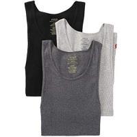 Ralph Lauren 男時尚馬球羅紋黑灰色背心混搭3件組