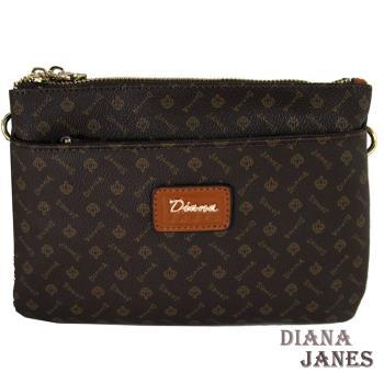 包包Diana Janes 黛安娜-晶鑽 LOGO雙拉斜揹包