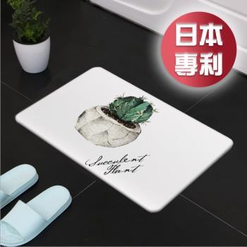媽媽咪呀 職人手作日本熱銷珪藻土地墊H3_多肉植物-丸型仙人掌
