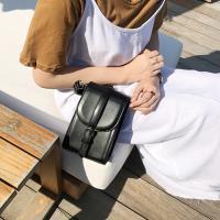 Acorn*橡果-韓版清新鍊條小方包斜背包手機包6605(黑色)