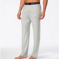 Ralph Lauren 男時尚馬球超柔軟棉淺灰色長睡褲