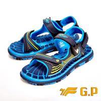 【G.P】快樂童鞋-磁扣兩用涼鞋-藍(另有紅)