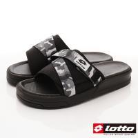 Lotto樂得-潮流運動拖鞋-SI778迷彩灰(男段)
