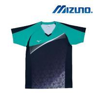 【MIZUNO 美津濃】男女短袖排球T恤 綠(V2TA7G1737)