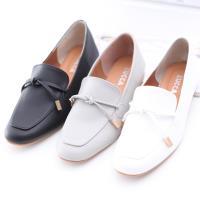 ZUCCA【z6505】細綁繩尖頭紳士鞋-黑色/白色/灰色