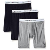 Tommy Hilfiger 2018男時尚黑灰色混搭四角修飾內著3件組