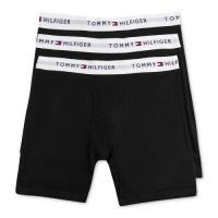 Tommy Hilfiger 2018男時尚黑色四角修飾內著3件組