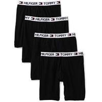 Tommy Hilfiger 2018男時尚黑色四角修飾內著4件組