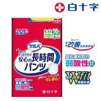 【白十字】雙層D超瞬吸防漏復健褲L-LL(箱購48片/16片x3包-日本原裝進口)