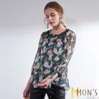 MONS典雅成熟浪漫花卉上衣