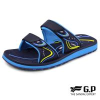 G.P 女款親子系列高彈性舒適雙帶拖鞋G8548BW-藍色(SIZE:33-39 共三色)