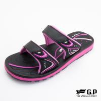 G.P 女款親子系列高彈性舒適雙帶拖鞋G8548BW-黑桃色(SIZE:33-39 共三色)