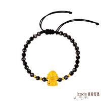 Jcode真愛密碼 小萌佛-彌勒黃金/尖晶石手鍊-立體硬金款
