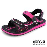 G.P 女款高彈性舒適磁扣兩用涼拖鞋G8666BW-黑桃色(SIZE:35-39 共三色)