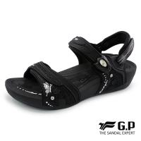 G.P 女款雙密度舒適鞋墊兩用涼拖鞋G8688W-黑色(SIZE:35-39 共二色)