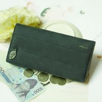 Acorn*橡果-韓版麂皮長夾手拿包手機包8605(藍灰)