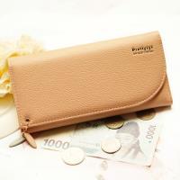 Acorn*橡果-韓版三折式長夾手拿包卡包手機包8609(橙粉)