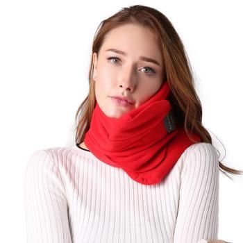 PUSH!旅遊用品超軟頸部支撐機上枕頭午睡頸枕飛行頭枕旅行枕頸椎枕黑色S57