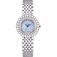 Ogival 瑞士愛其華  絢彩珠寶石英腕錶-水漾藍 380-014DLW