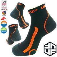 [UF72+]台灣MIT/除臭全功能壓力運動襪/黑螢橘(20~24) UF-900-3(三雙組) /路跑/球類運動/自行車/久站工作/釋放腳壓力