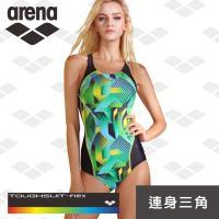 限量 秋冬新款  arena 女士 訓練款 TMS8114W 女士 彩虹標 連體泳衣時尚 保守 女顯瘦遮肚 修身小三角
