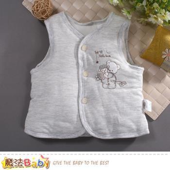 魔法Baby 嬰幼兒外套 秋冬加厚鋪棉背心外套 k60791