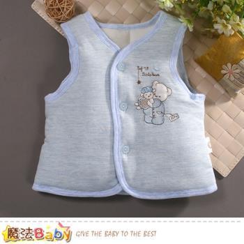 魔法Baby 嬰幼兒外套 秋冬加厚鋪棉背心外套 k60790