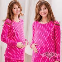 天使霓裳 溫馨簡約 居家孕婦哺乳衣套裝(共2色F) UE415