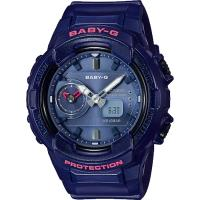 BABY-G 秋冬街頭時尚風格雙顯女錶-珠光藍(BGA-230S-2A)