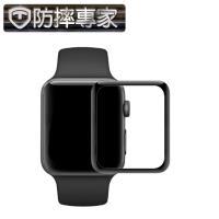 防摔專家Apple Watch 40mm 全螢幕3D曲面鋼化玻璃貼(黑邊)
