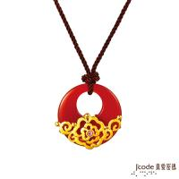 Jcode真愛密碼 富貴芙蓉黃金/瑪瑙/水晶中國結項鍊